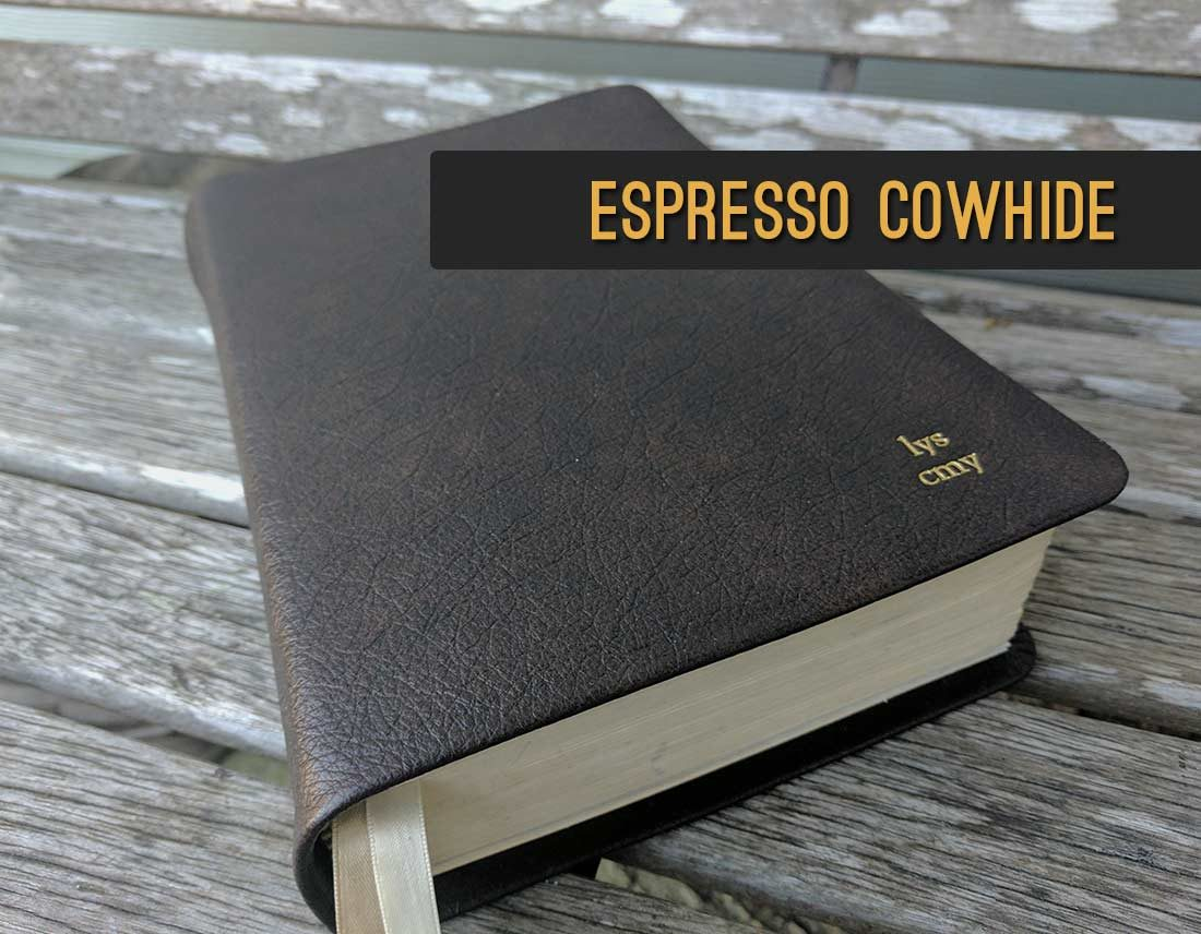 Repair and Recover your Bible in Espresso Brown Cowhide Leather