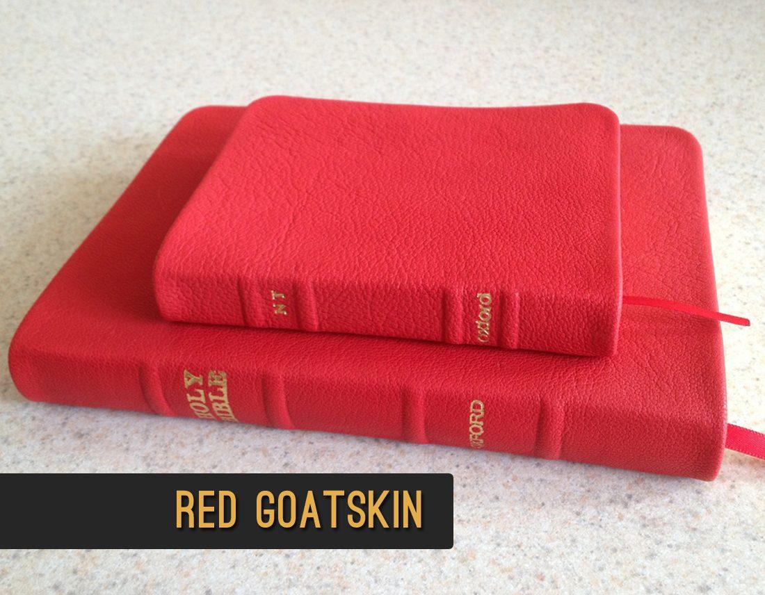 NIV Study Bible N1686:XRS burgundy goatskin leather ...