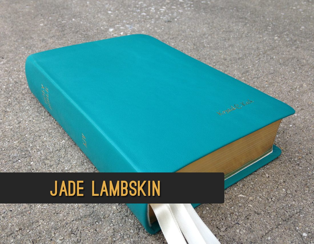 Jade Lambskin Leather Bible
