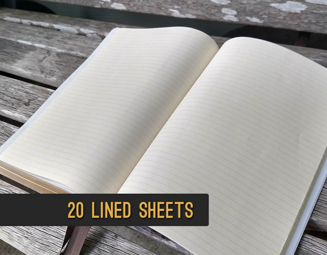 Add lined sheets for your bible notes