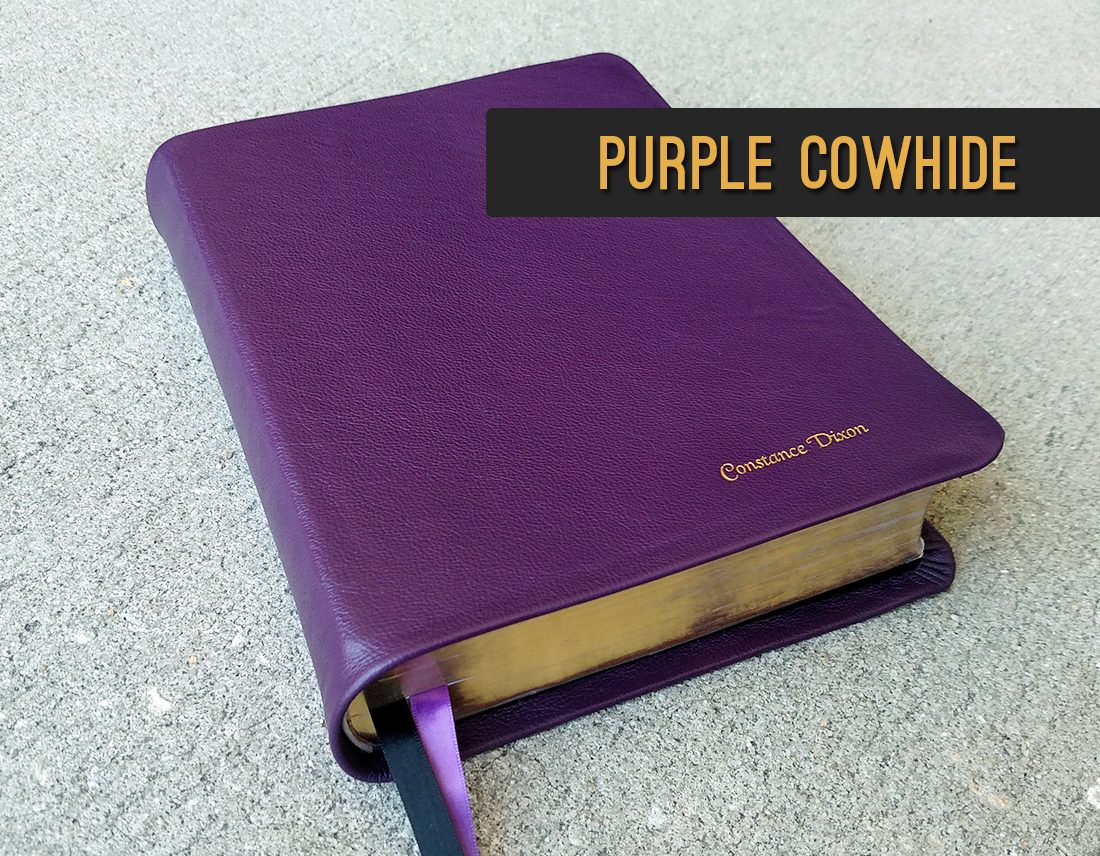 Repair and Recover Your Bible in Purple Cowhide Leather