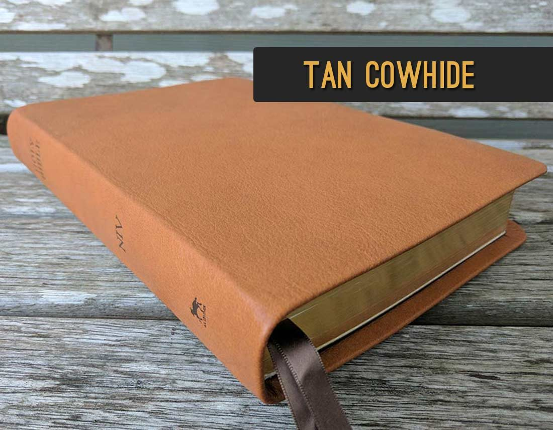 Rebind Your Bible in Tan Cowhide Leather