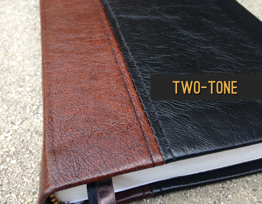 Two-Tone Leather Bible