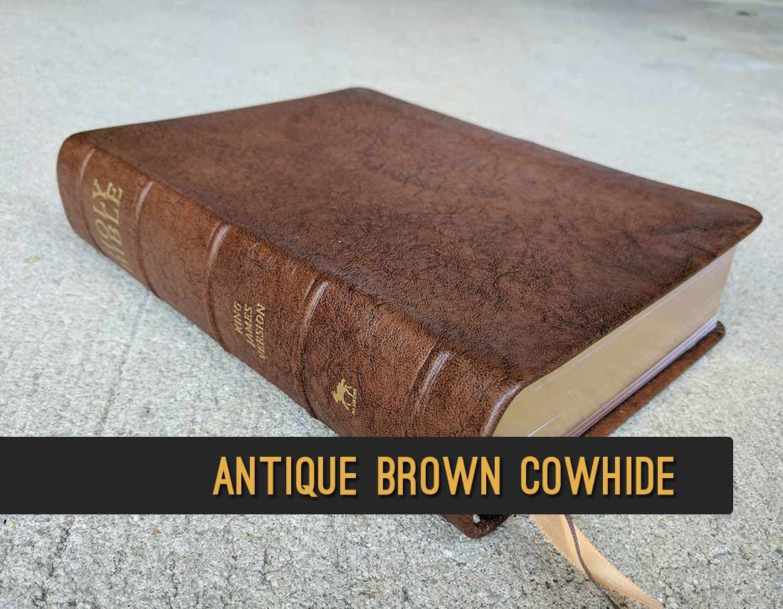 Repair your Bible and recover it in genuine cowhide leather.