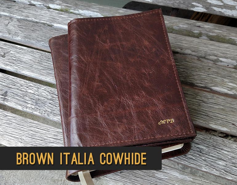 Bible Repair - Recover your Bible in Brown Italia Cowhide Leather