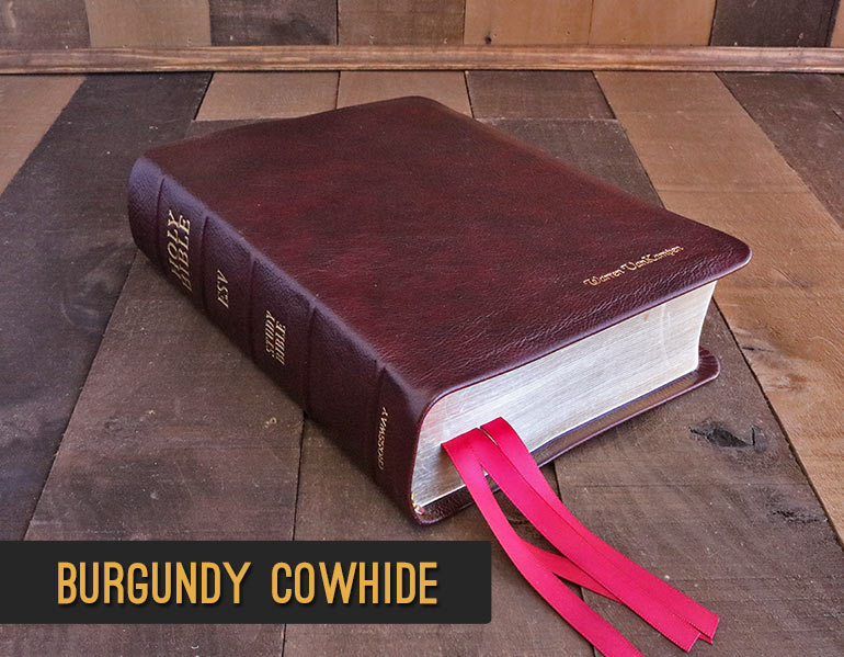 Repair and Recover Your Bible In Genuine Burgundy Cowhide Leather