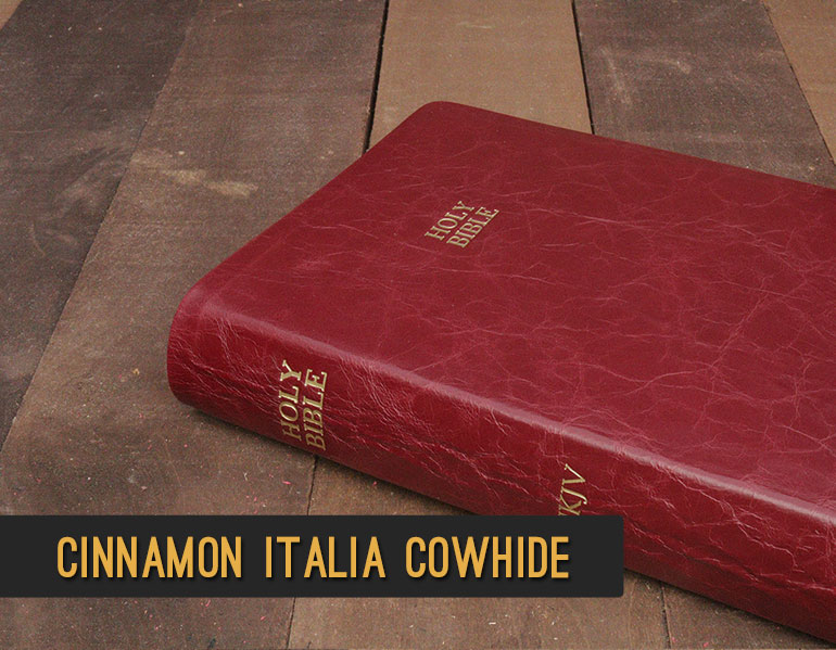 Red Italia Cowhide Leather Bible Rebind