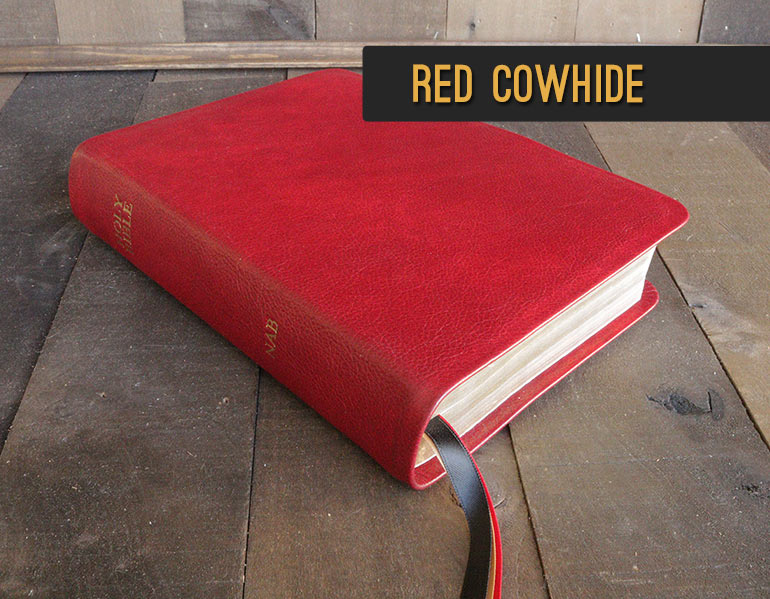 Rebind your Bible in genuine leather - Red Cowhide Leather