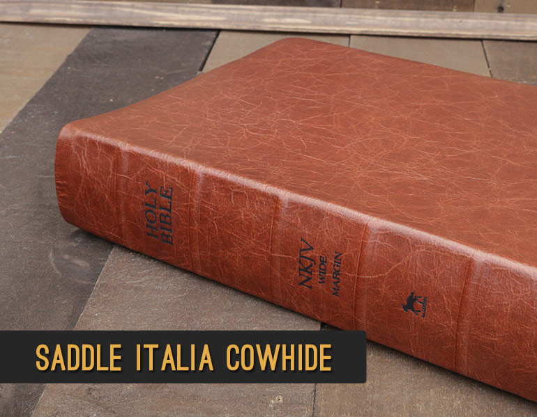 Bible Repair - Recover your Bible in Saddle Italia Cowhide Leather