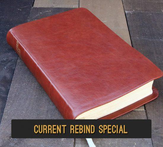 Rebind Your Bible In Burnt Orange Cowhide Leather