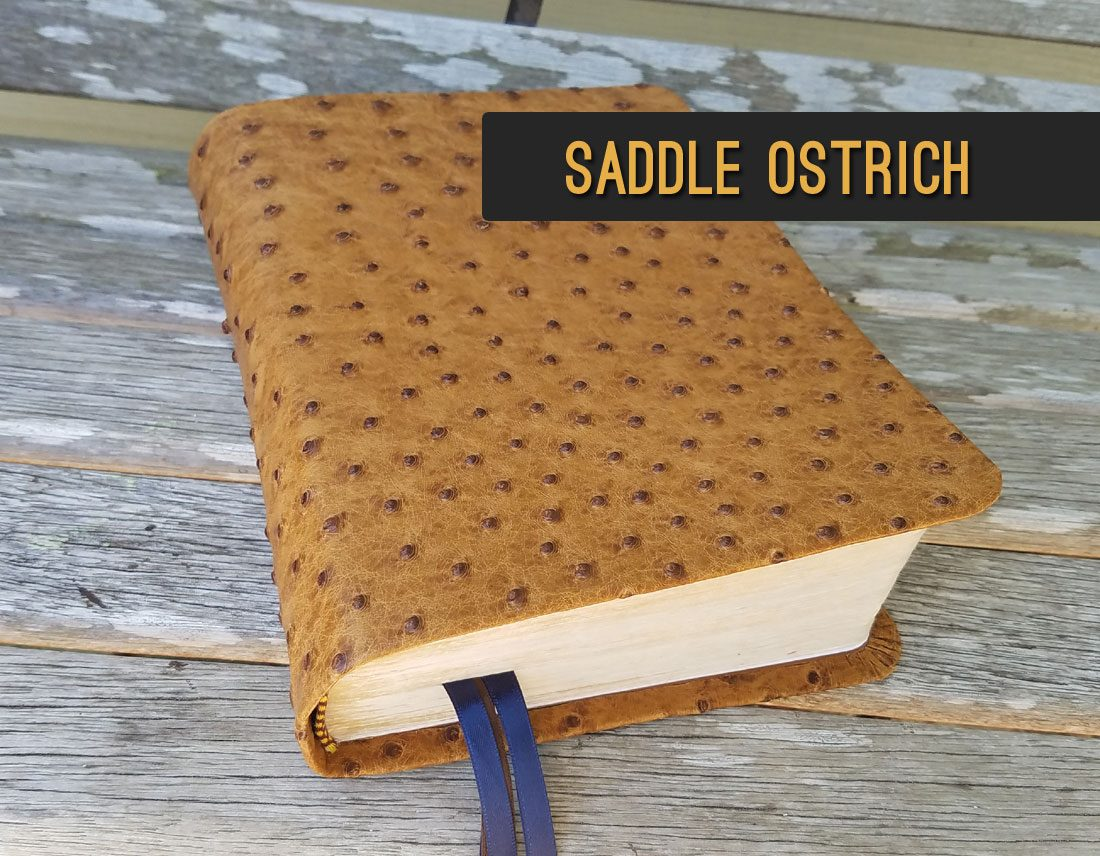 Saddle Ostrich Leather Bible