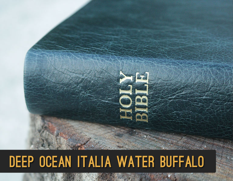 Rebind your Bible in genuine leather