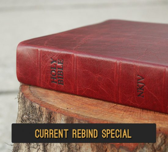 Repair and recover your Bible in genuine leather
