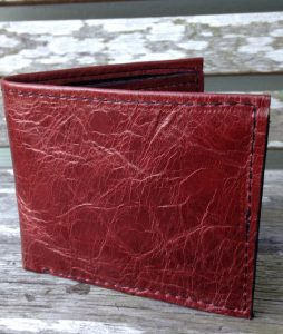 Burgundy Italia Cowhide Leather Wallet