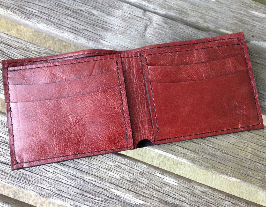 Burgundy Italia Cowhide Leather Wallet