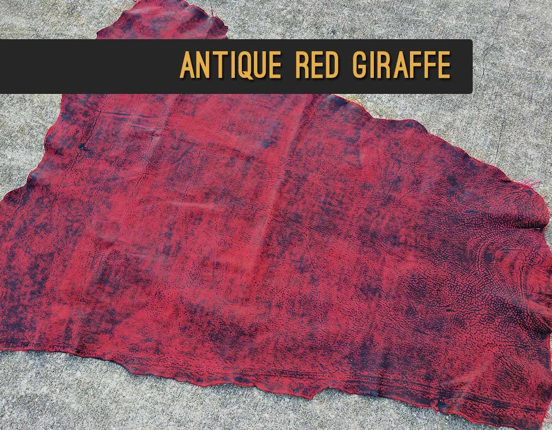 Antique Red Giraffe Leather | Repair & Rebind Your Bible In Exotic Leather