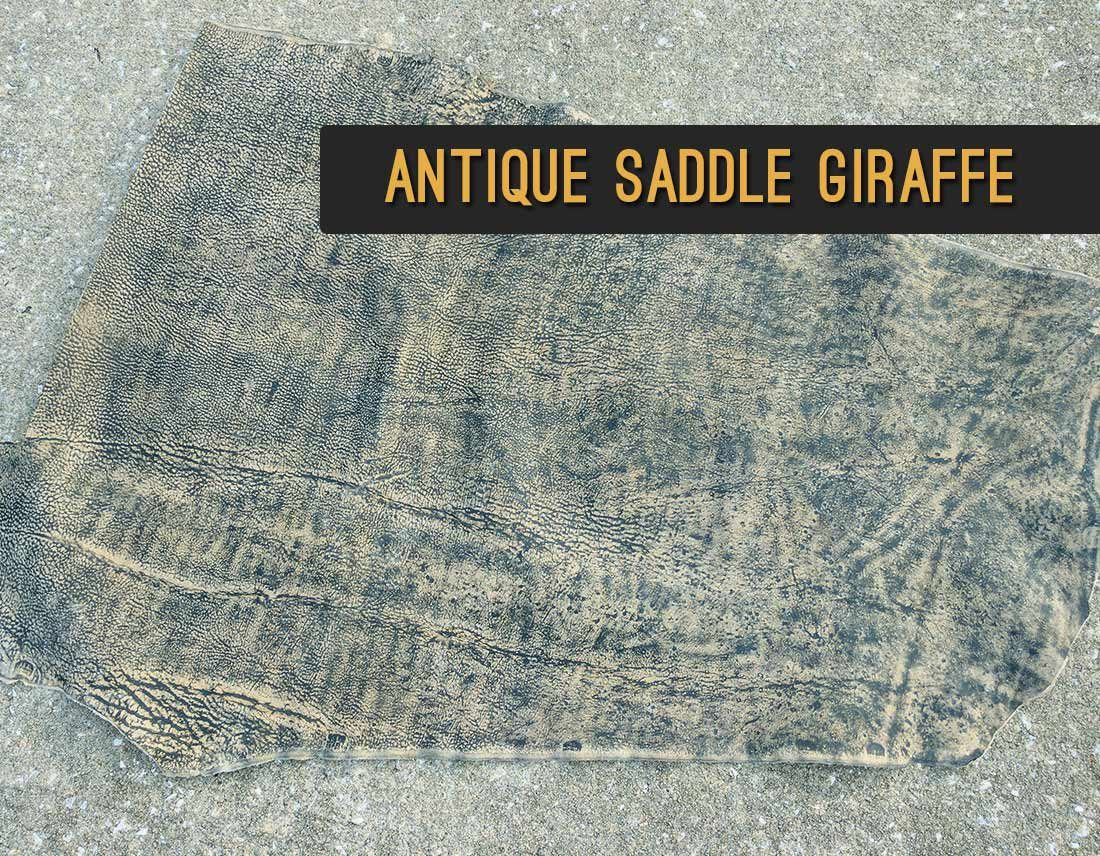 Antique Saddle Giraffe Leather | Repair & Rebind Your Bible In Exotic Leather
