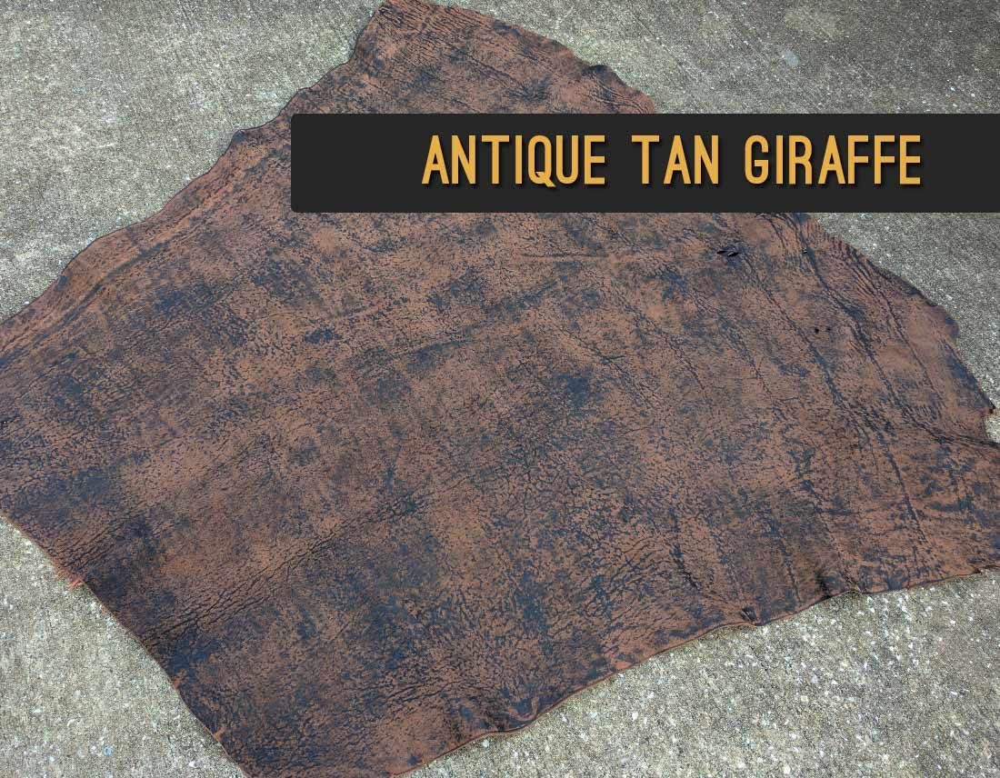 Antique Tan Giraffe Leather | Repair & Rebind Your Bible In Exotic Leather