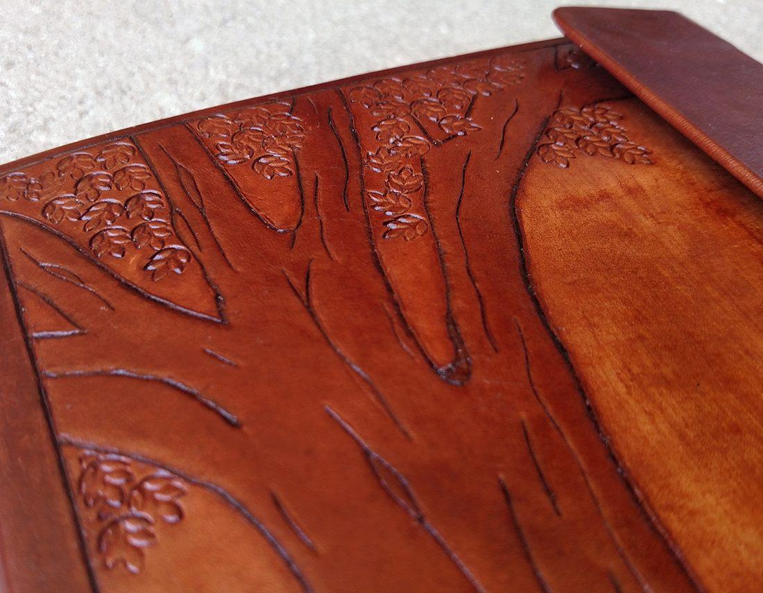 Tree of Life | Custom leather art hand-tooled by Caleb Hampton | Jacksonville, FL