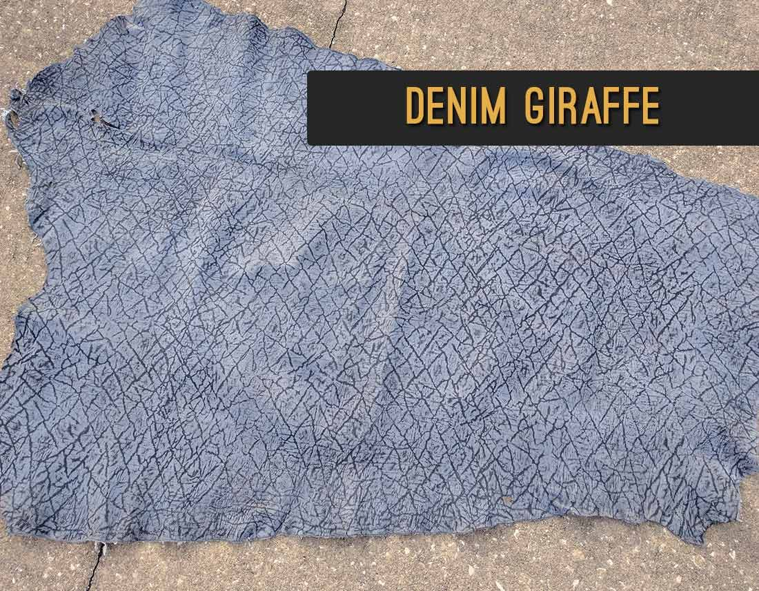 Denim Giraffe Leather | Repair & Rebind Your Bible In Exotic Leather