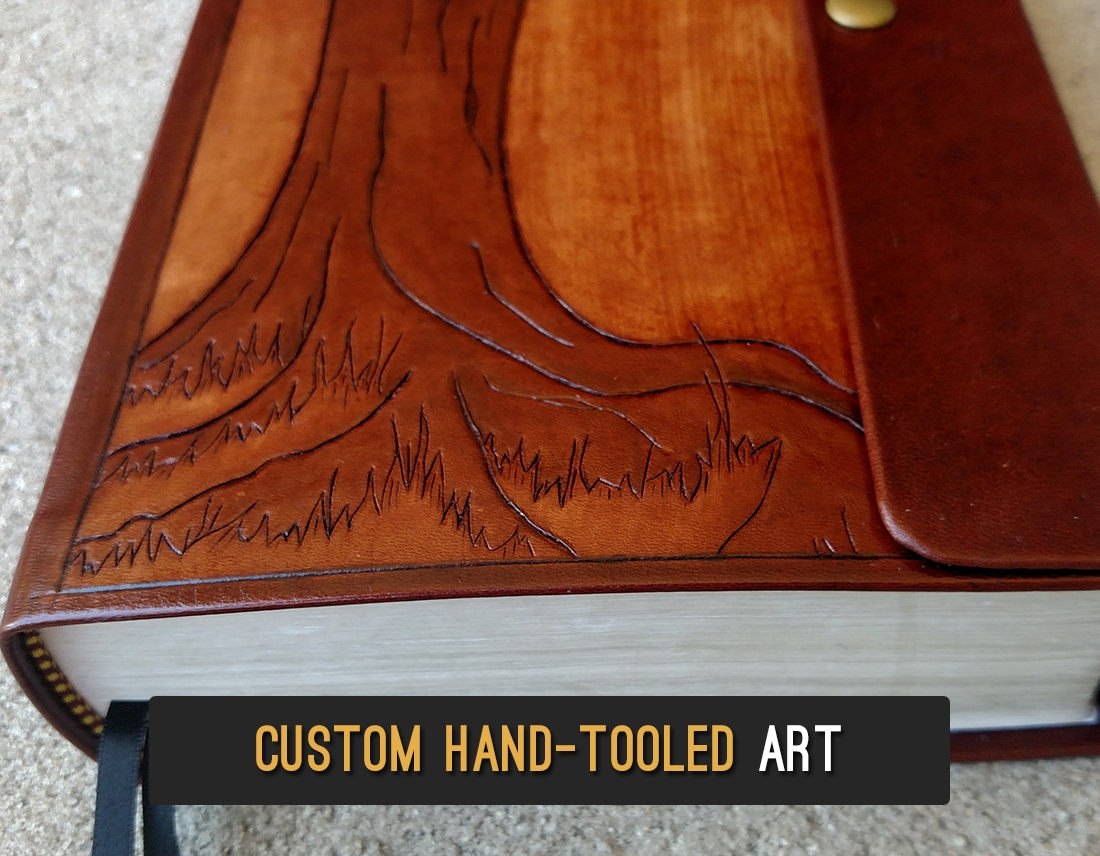 Tree of Life | Custom leather art hand-tooled by Caleb Hampton | Jacksonville, FL