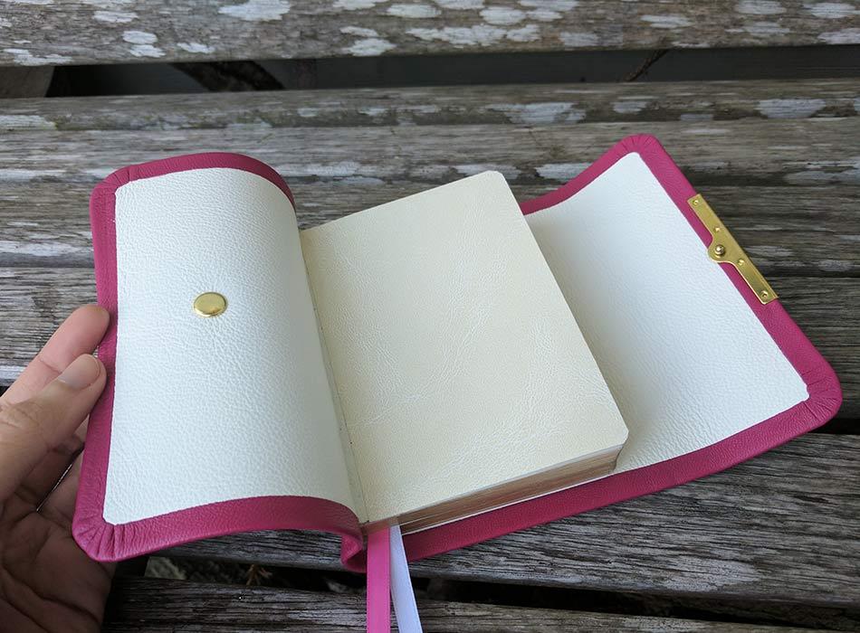 Pink Fuchsia Lambskin Leather Compact Bible