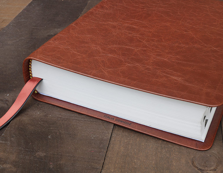 NKJV Wide Margin Reference Edition Genuine Cowhide Leather Bible
