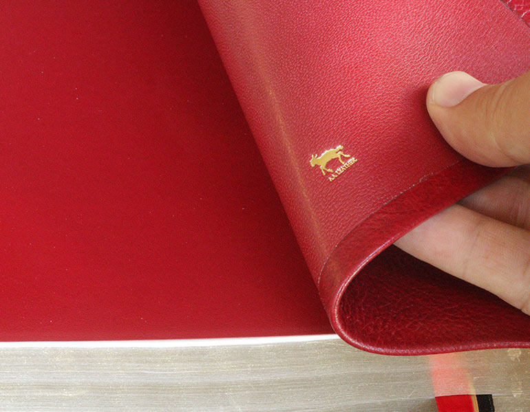 Red Cowhide Leather Bible For Sale