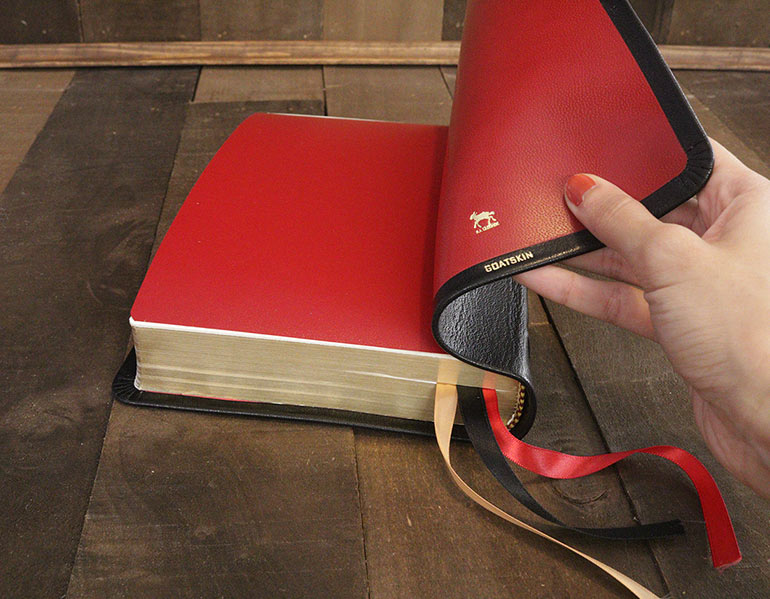 Genuine Leather Bibles For Sale - Black Goatskin Leather Bible