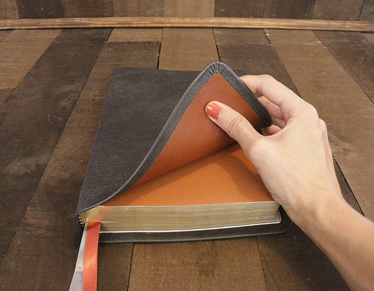 Genuine Leather Bibles For Sale - Granite Cowhide Leather Bible