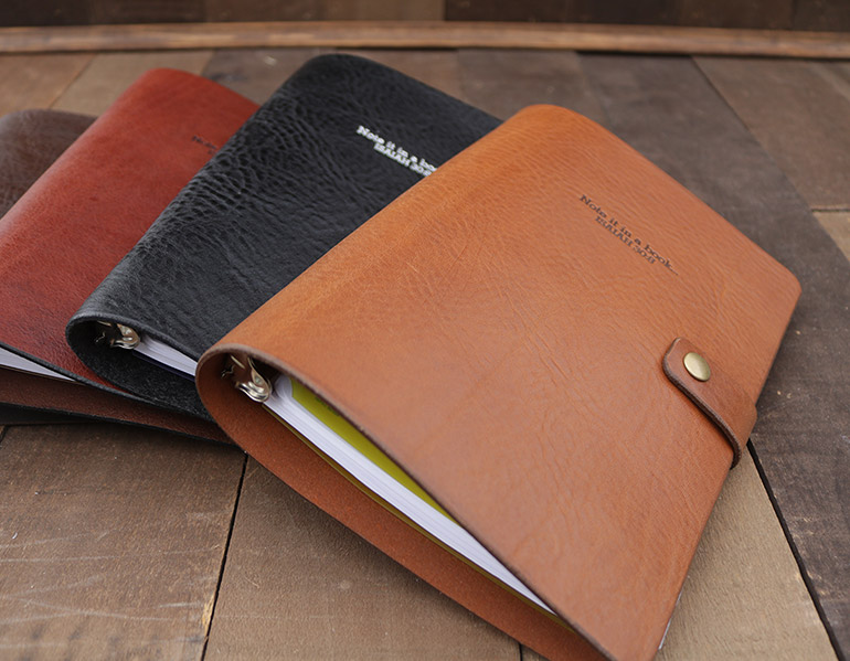 Leather 3-Ring Binder Notebook