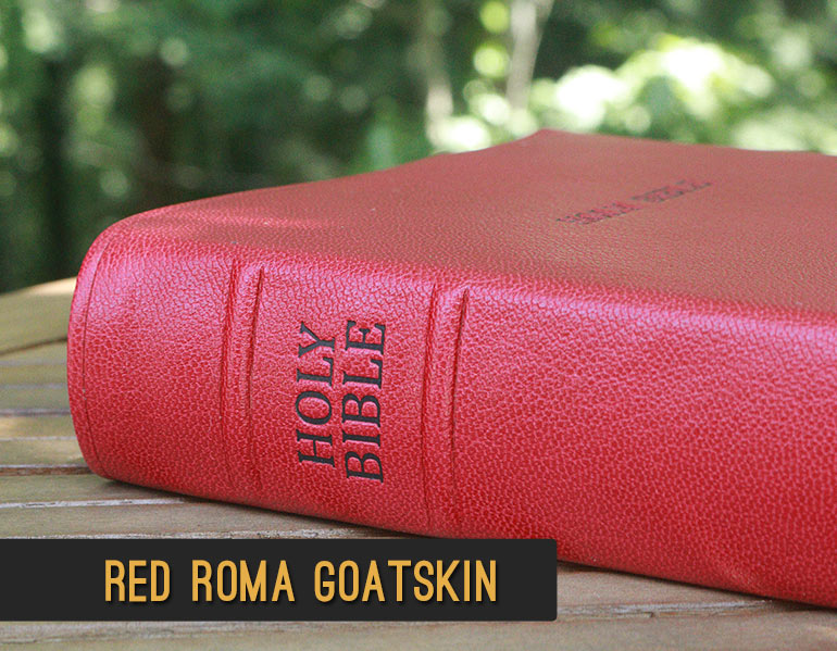 Repair and Recover your Bible in Red Roma Goatskin Leather